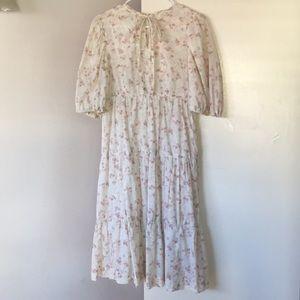 Vintage Handmade Boho Floral Dress - S/M